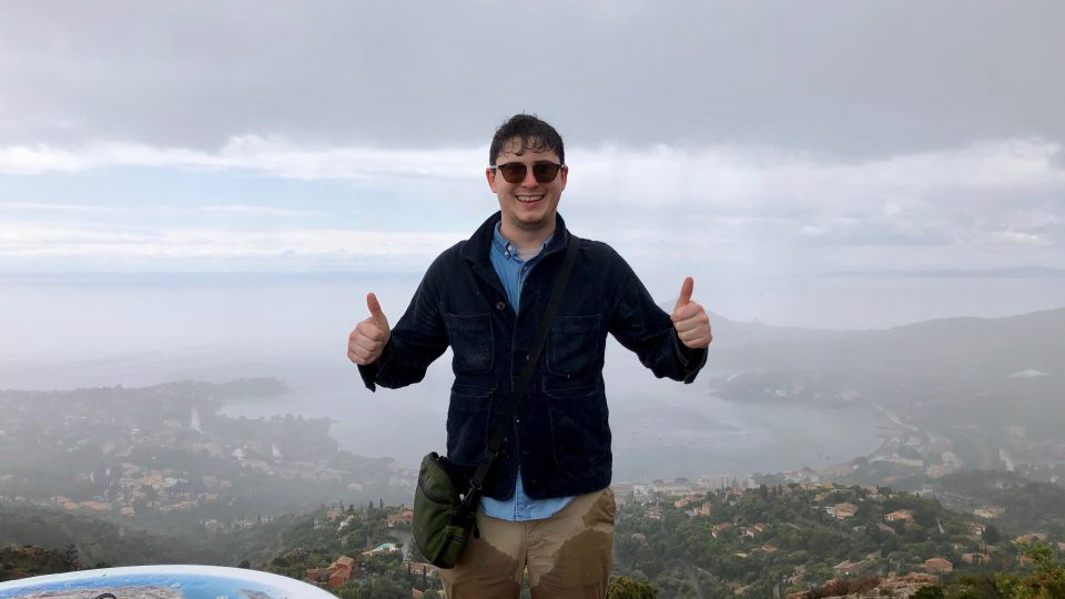 Photo of Matthew Chamberlain Atop a Mountain in Southern France
